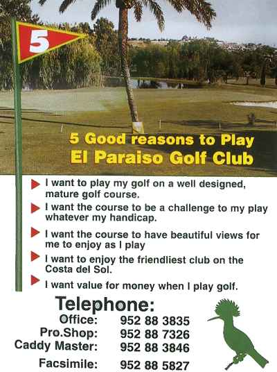 El Paraiso Golf Course details