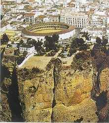 Aerial view of Ronda bull ring